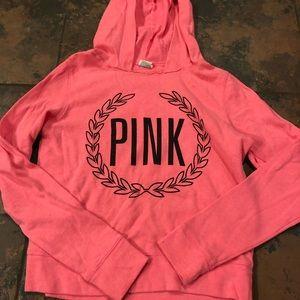 Pink Victoria secret sweatshirt size xs